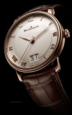 Blancpain - Villeret Grande Date. For the first time in the Villeret Collection, Blancpain's most classical timepieces, Blancpain is offering the complication of a grand date.