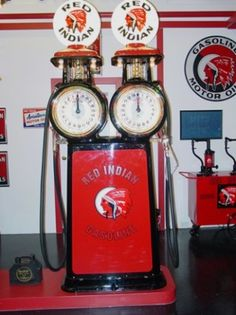 Vintage Gas Pump Image Album - Canadian Ecometer, twin, Red Indian Gas