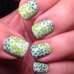 Green Nails | Gradient Nails | Flower Nails | MoYou London | OPI
