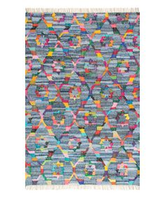 Look what I found on #zulily! Blue & Pink Jacquetta Rug #zulilyfinds