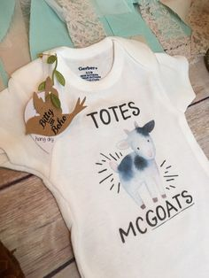 Totes McGoats Onesie® Baby Boy Clothes Hipster by BittyandBoho