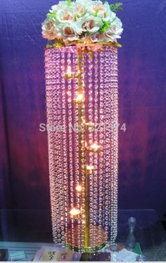 how to make a crystal chandelier centerpiece - Google Search