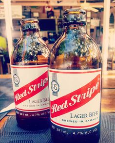 Love this beer! #redstripebeer #jamaica #beachlife #cosmo #bar #cheers by hesterbaas