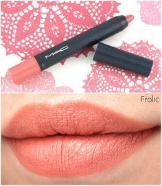 """The Happy Sloths: MAC Velvetease Lip Pencil """"Just Add Romance"""", """"Frolic"""" & """"Reddy to Go"""": Review and Swatches"""