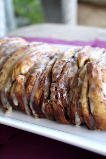 Perfect for Brunch~ Cinnamon Roll Pull Apart Bread