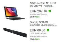 """Ebay: Asus Zen Pad 10 mit LTE als B-Ware für 179,90 Euro frei Haus https://www.discountfan.de/artikel/technik_und_haushalt/ebay-asus-zen-pad-10-mit-lte-als-b-ware-fuer-179-90-euro-frei-haus.php Mit dem """"Asus Zen Pad 10"""" ist heute bei Ebay als """"Wow! des Tages"""" ein Convertible mit 64 GByte Flash-Speicher, zwei GByte RAM, LTE und Android für 179,90 Euro frei Haus zu haben. Es handelt sich um B-Ware, die aber """"technisch einwandfrei"""" sein .."""
