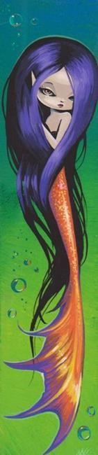 Art: Violet-Haired Mermaid by Artist Nico Niemi