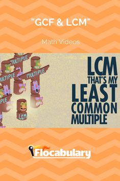 The Greatest Common Factor and Least Common Multiple come in handy when adding, subtracting, multiplying, dividing or reducing fractions. The GCF is the biggest factor that two numbers have in common. The LCM is the smallest multiple that two numbers have in common. This song introduces students to the GCF and LCM and demonstrates how to find them.