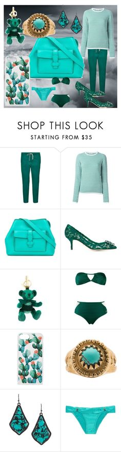 """""""fashion for alert"""" by denisee-denisee ❤ liked on Polyvore featuring Golden Goose, P.A.R.O.S.H., Loro Piana, Dolce&Gabbana, Burberry, Brigitte, Sonix, Turquoise + Tobacco, Kendra Scott and ViX"""