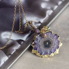 Amethyst, Gold And Diamond Necklace