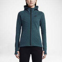 Nike Tech Fleece Windrunner Full Zip Jacket The Nike Tech Fleece Windrunner Full-Zip Women's Jacket reinvents the iconic running style with warm engineered fleece and a dropped hem for modern style.  Nike Tech Fleece fabric offers lightweight warmth. Long dropped hem in back for style and coverage. Thumbholes. Adjustable, multi-panel hood zips up to your chin for personalised coverage. Fabric: 69% cotton/31% polyester. Meant to have a fitted look, will work for an XS if you want something a…