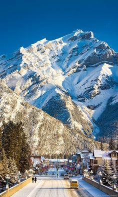 Reasons to Start Planning Your Alberta Winter Vacation Cascade Mountain is the perfect backdrop for Banff, the picturesque alpine ski town nestle in the Canadian Rockies. Cross it off your bucket list and enter to win a 7-night dream vacation.