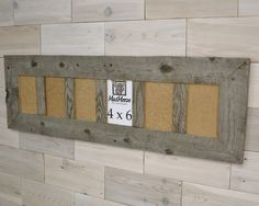 6 pane 4 x 6 Barn Wood Picture Frame [Thin x Barn Wood Picture Frames, Style, Swag, Outfits