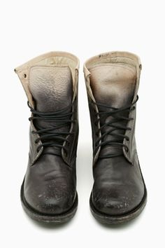 Love the dip-dyed effect on these Mad Maxine kicks: Women's Twilight Ride Combat Boot in black by Freebird via @Becky Carver GAL