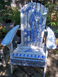 Another chair we bid on at Sherway Garden Garden Art Auction made a great addition to the garden