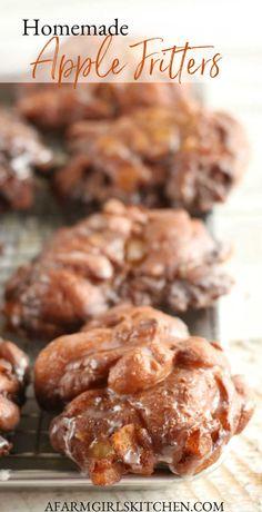 Apple Fritter Recipes, Apple Fritter Bread, Apple Fritters, Donut Recipes, Apple Recipes, Baking Recipes, Baking Breads, Bread Recipes, Fall Dessert Recipes