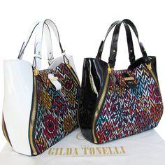 Gilda Tonelli Pop-Art printed leather handbags - spring summer 2016. http://www.airfashion.it/1/GildaTonelli/gilda-tonelli-bags-shoes-borse-scarpe-sumki-obuv.html