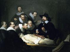 La lección de anatomía del Dr. Nicolaes Tulp es un cuadro del pintor neerlandés Rembrandt. Fue pintado en 1632. Se trata de una pintura al óleo sobre lienzo, que mide 169,5 centímetros de alto y 216,5 cm de ancho.  Ubicación: Mauritshuis Período: Siglo de oro neerlandés Tamaño: 1,70 m x 2,16 m Género: Pintura de género Tema: Cadáver, Médico, Nicolaes Tulp
