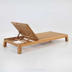 Contempo Teak Chaise Lounge (Outdoor Furniture)