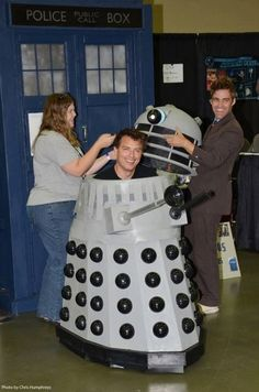 A Dalek was rolling around harassing everyone in line waiting for John Barrowman. It turned out the dalek was John Barrowman.