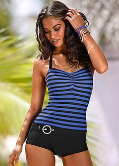 be10961f593 Fashionable swimsuit with a chic ring detail sitting on the waist that adds  a cool vintage