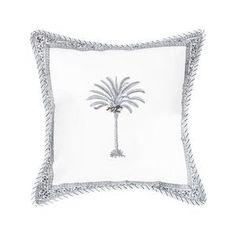 Black Palm Tree - 60 x 60 cm Palm Tree Print, Palm Trees, Cushions On Sofa, Cushion Covers, Tapestry, Boho, Cotton, Black, Palm Plants
