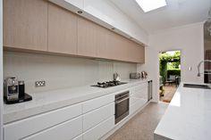 Celebrity Kitchens with Caesarstone > Supremo Swan Lake Celebrity Kitchens, Celebrity Houses, Kitchen Items, Kitchen Hacks, Counter Space, Kitchen Styling, Cupboard, Kitchen Design, Kitchen Cabinets