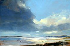 Gathering Clouds, Harris - Oil on Board - Zarina Stewart-Clark, Landscape Artist