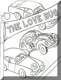 Disney Herbie Colouring Pages Sketch Coloring Page
