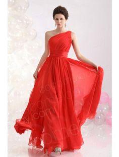 Classic  A Line One Shoulder Floor Length Chiffon Red Evening Dress COZF13012  $99.00  Evening Dress, Evening Dress, Evening Dress, Evening Dress, Evening Dress, Evening Dress,