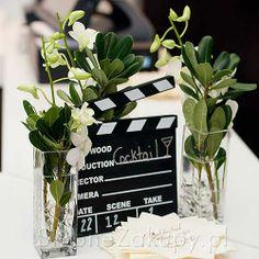 film slate, flowers, love