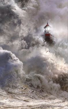 Lighthouse Painting, Lighthouse Keeper, Lighthouse Pictures, Scenery Pictures, Am Meer, Ocean Waves, Amazing Nature, Belle Photo, Pretty Pictures