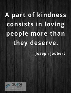 A part of kindness consists