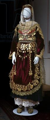 Bridal costume from Salamina Island