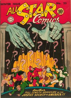 """All-Star Comics The Justice Society of America star in """"The Plunder of the Psycho-Pirate.""""""""br /JSA story only—does not include back-up stories. Dc Comic Books, Comic Book Covers, Comic Art, Star Comics, Dc Comics, Justice Society Of America, Classic Comics, Vintage Comics, Vintage Books"""