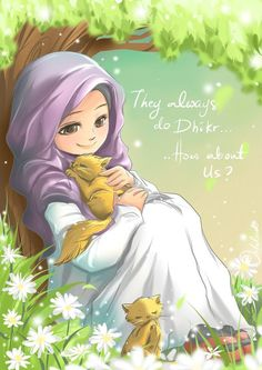 "Daily Reminder by whitelead.deviantart.com on @DeviantArt Almighty Allah says, ""The skies and the earth are in His remembrance and whatever is in them. And there is nothing which does not praise him with his remembrance, but it is you who does not understand their remembrance."" Plants and animals always do Zikir. how about us? Subhanallah, Alhamdulillah, Laailahaillallah, Allahu Akbar.."