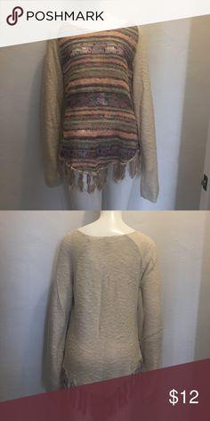 Sweater Fringe sweater (like new, never worn) American Rag Sweaters Crew & Scoop Necks