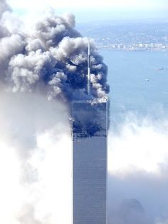September North Tower, World Trade Center (Copyright All rights reserved by Metabunk) 11 September 2001, Remembering September 11th, World Trade Center Attack, Trade Centre, We Will Never Forget, Lest We Forget, United Airlines Flight 175, World Trade Towers, North Tower