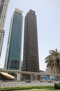 Adrian Fisher designed this maze tower on a tall building in Dubai. (Photo: Adrian Fisher Design Ltd. Dubai Buildings, Skyscrapers, Unique Architecture, Construction Design, Beautiful Buildings, Maze, Multi Story Building, Around The Worlds, Towers