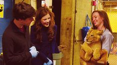 Skandar Keynes and Georgie Henley meet Lion cub named Aslan