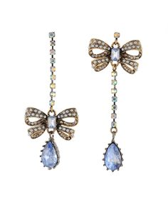 I love Betsey Johnson's mismatched earrings.