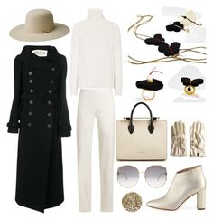 """Untitled #1386"" by harikleiatsirka on Polyvore featuring A.W.A.K.E., Loro Piana, The Row, Strathberry, Bailey Western, Manolo Blahnik, Gucci, Smith & Cult and Topshop"