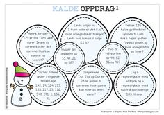 Et sett med kalde oppdrag – Begynneropplæring med Runar Word Problems, Classroom, Education, School, Bingo, Maths, Barn, Teacher, Children