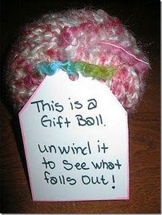 gift ball pinterest