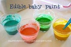 Finger Paint for Babies...gah!! doing this ASAP. the babes will love this.