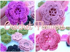 How To Crochet Flower Hi again! This is actually a updated video of my previous Crochet Flower video some time in the past. Crochet Headband Pattern, Crochet Flower Patterns, Crochet Flowers, Crochet Shell Stitch, Crochet Motif, Love Crochet, Irish Crochet, Crochet Leaves, Crochet World