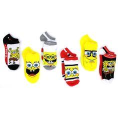 You're little one will love this Spongebob Squarepants 6 pack socks sets! Free shipping! #spongebob #spongebobsquarepants #nickelodeon #yankeetoybox #ytb