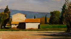 Winter Sun, Postcard from Provence, a daily painting blog by Julian Merrow-Smith