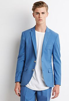 Two-Button Blazer | 21 MEN - 49.95 just the jacket with t-shirt & jeans