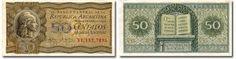 Billete de 50 centavos moneda nacional argentina (1950)